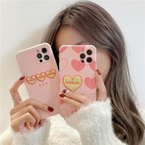 Coque de téléphone rose avec broderie coréenne pour iPhone8plus XR NHFI308387's discount tags