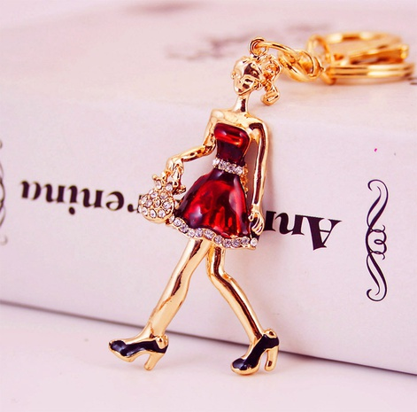 Little Girl Pendant Keychain NHAK308390's discount tags