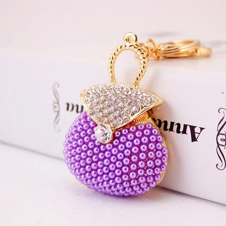 Porte-clés de sac à main en perles de strass NHAK308391's discount tags