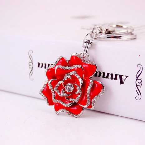 Rose Metal Pendant Keychain NHAK308396's discount tags