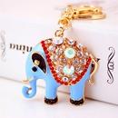Llavero elefante de aleacin de diamantes de imitacin NHAK308405