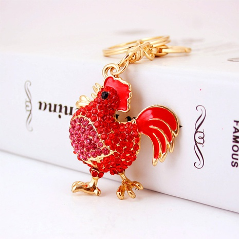 creative cute little rooster diamond keychain  NHAK308407's discount tags