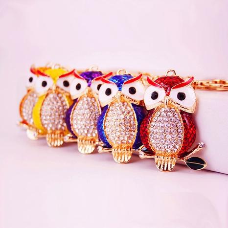Creative cute diamond owl keychain  NHAK308409's discount tags