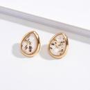 retro shell metal earrings NHAI308455