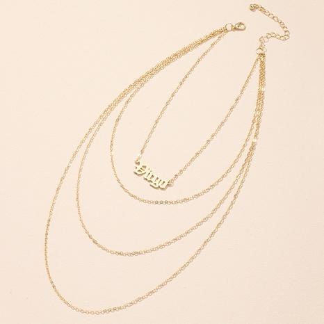 Korean new simple letter pendant necklace NHAI308473's discount tags