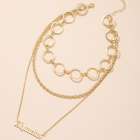 new exaggerated fashion letter pendant necklace NHAI308474's discount tags