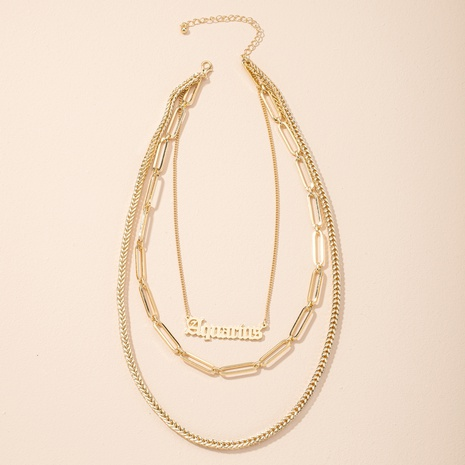 new exaggerated fashion letter pendant necklace NHAI308479's discount tags