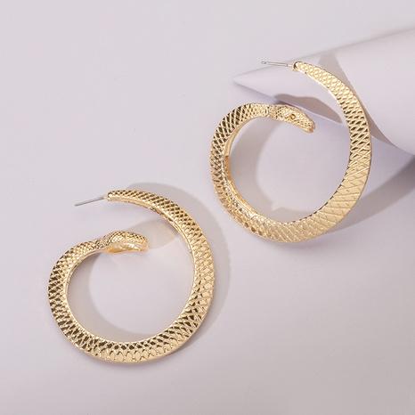 new snake C-shaped retro earrings NHAI308481's discount tags