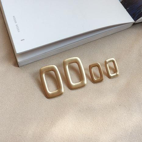 rechteckige hohle Metallohrringe NHAI308493's discount tags