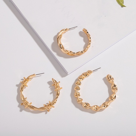 Großhandel Mode C-förmige Retro-Ohrringe NHAI308494's discount tags