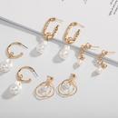 einfache Metallmode Perlenohrringe NHAI308500