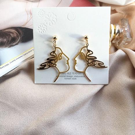 Asymmetrisches Gesicht Kreative Mode Ohrringe NHAI308505's discount tags