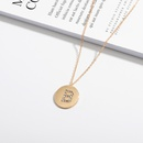 Korea fashion 26 English alphabet necklace NHAI308513