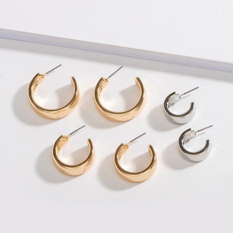 einfache Mode Metall C-förmige Ohrringe NHAI308515's discount tags