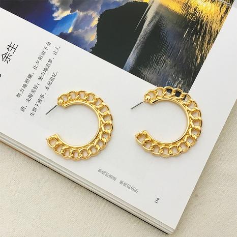 simple geometric chain earrings  NHAI308520's discount tags