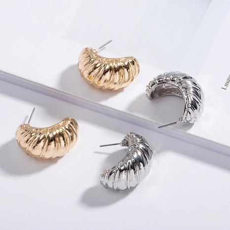 verdrehte Spirale einfache hellgoldene Ohrringe NHAI308521's discount tags