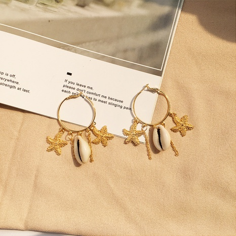 Mode Retro Ozean Muschel Ohrringe NHAI308528's discount tags