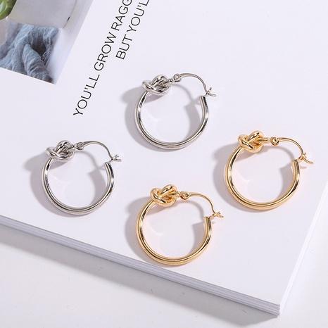 Modekreis geknotete Ohrringe NHAI308540's discount tags