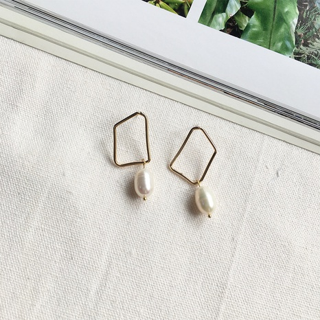 simple square freshwater pearl earrings NHAI308561's discount tags