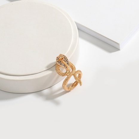 new snake-shaped diamond alloy ring NHAI308563's discount tags