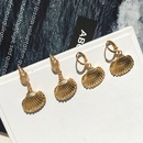 retro alloy shell earrings fashion necklace NHAI308568