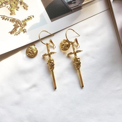 Engel und Dämon lange Ohrringe NHAI308571's discount tags