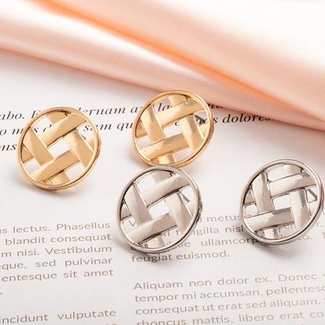 Großhandel Metall gewebte Rattan Retro Ohrringe NHAI308578's discount tags