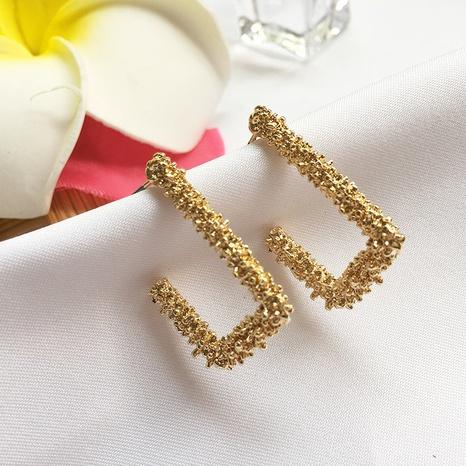 neue geschnitzte goldene Ohrringe NHAI308580's discount tags