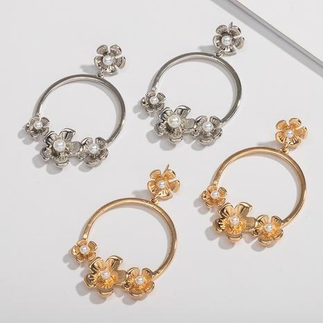 neue einfache Perlenblumenohrringe NHAI308583's discount tags