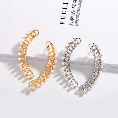 einfache Mode Perlenblatt Ohrringe NHAI308597's discount tags