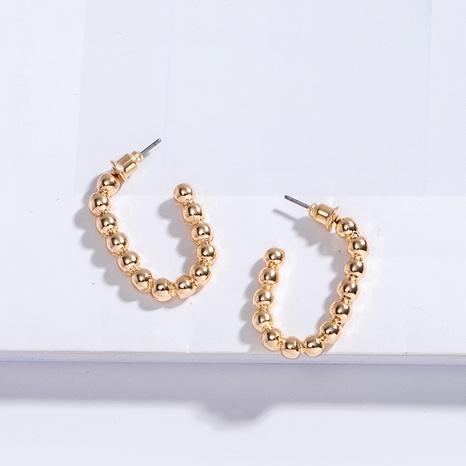 goldene einfache Ohrringe NHAI308602's discount tags