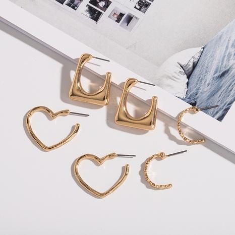 Legierung geometrische Herz einfache Ohrringe NHAI308601's discount tags