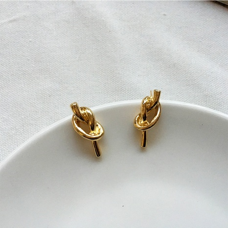 fashion retro simple knotted rope earrings NHAI308603's discount tags
