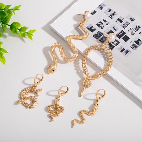 wholesale snake retro earrings NHAI308621's discount tags