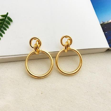hollow geometric round retro earrings NHAI308630's discount tags