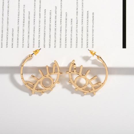 pendientes geométricos con forma de ojo hueco NHAI308633's discount tags