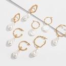 pearl retro metal earrings NHAI308642