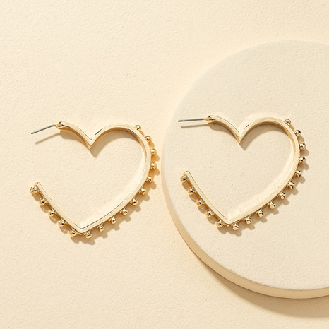 wholesale simple heart-shaped earrings  NHQJ308656's discount tags