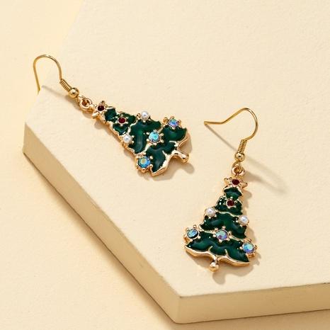 Metall Weihnachtsbaum Ohrringe Halskette Set NHQJ308658's discount tags
