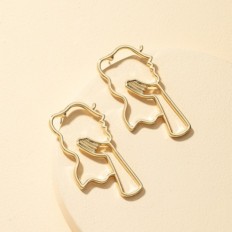 fashion new face contour earrings NHQJ308667's discount tags