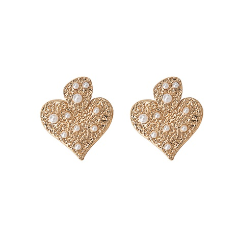 fashion heart-shaped pearl exquisite earrings  NHQJ308679's discount tags