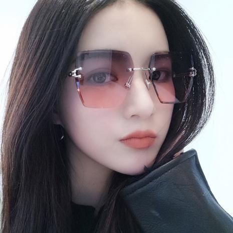 fashion new metal rimless sunglasses  NHKD308292's discount tags