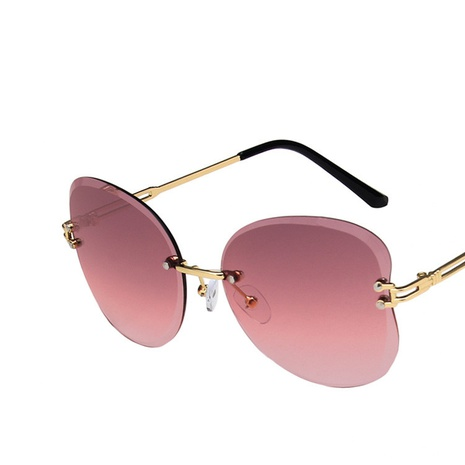 new butterfly frameless trimmed sunglasses  NHKD308308's discount tags