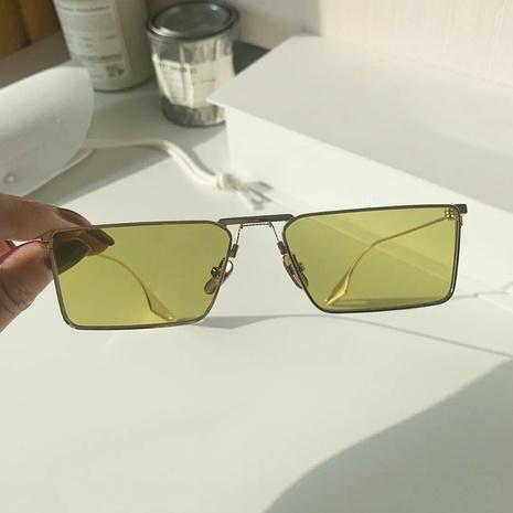 Light green metal frame sunglasses  NHKD308311's discount tags