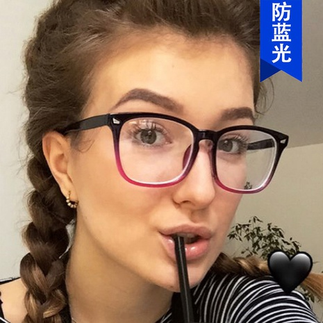 simple new square retro glasses  NHKD308312's discount tags