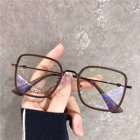 new simple square glasses NHKD308313's discount tags