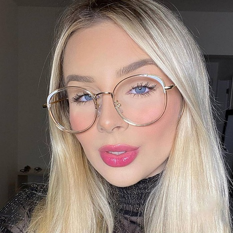 new retro literary frame mirror glasses NHFY308321's discount tags