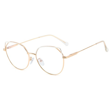Trendy new metal frame round glasses NHFY308344's discount tags