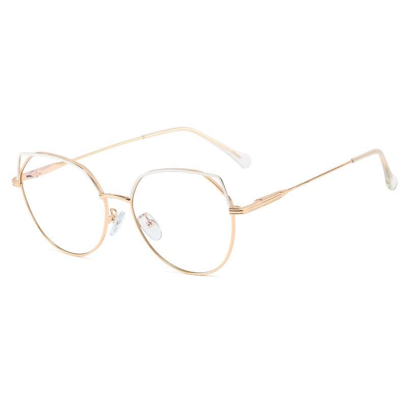 Trendy new metal frame round glasses NHFY308344