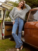 new fashion loose Vneck sweater NHDE308709